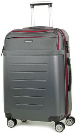 Rock potovalni kovček TR-0166 / M-3, siva