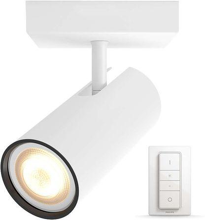 Philips Pojedyncze Oświetlenie Punktowe Hue Buratto 5046131p7 Z Pilotem Zdalnego Sterowania