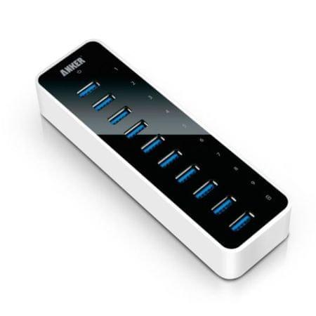 Anker vozlišče USB 3.0, 10 portov