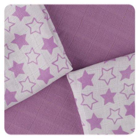 XKKO BMB utierky Little Stars 30x30, Lilac (9ks)