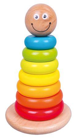 Bino Zabawka z kolorowymi pierścieniami
