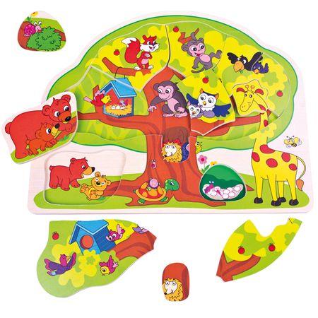 BINO Puzzle wesołe zwierzątka
