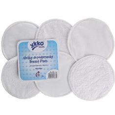 XKKO Froté vložky do podprsenky Organic, Biela 6ks)