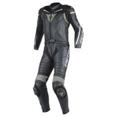 Dainese pánská motocyklová kombinéza - dvoudílná LAGUNA SECA D1 div. černá/černá/antracit, kůže