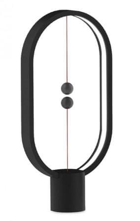 Allocacoc namizna svetilka Heng Ellipse, USB, črna