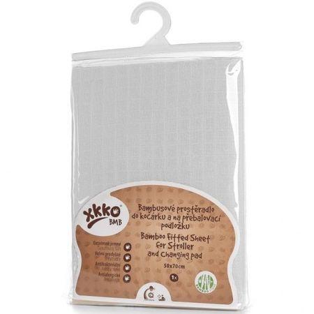 XKKO Bambusowe prześcieradło z gumką 50x70, białe