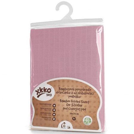 XKKO bambus prevlaka s elastikom, 50 x 70 cm, Baby Pink, roza
