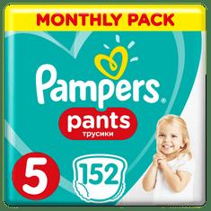 Pampers Plenkové kalhotky Pants 5 Měsíční balení 11-18 kg, 152 ks