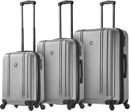 Mia Toro M1210 / 3 utazó bőrönd készlet, ezüst