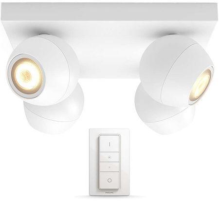 Philips štiri delna svetilka HUE Buckram 50474/31/P7 z daljinskim upravljalnikom, bela
