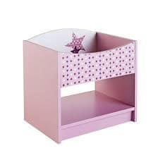 Nočna omarica Fairy 44x32 cm, roza