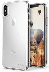 Ultra tanek silikonski ovitek za iPhone X, prozoren