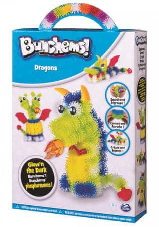 Spin Master Bunchems fosforeskujúca sada - draci