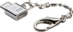 Goobay adapter USB-C/microUSB, srebrni
