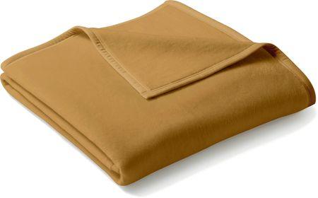 Biederlack koc Uno Cotton 150x200 cm, karmelowy