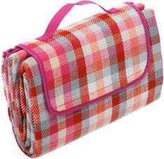 Biederlack deka za piknik Clear Red, 130x170 cm, rdeča
