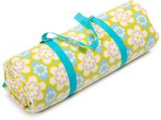 Biederlack deka za piknik Bright Yellow, 200x200 cm, XXL, svetlo rumena
