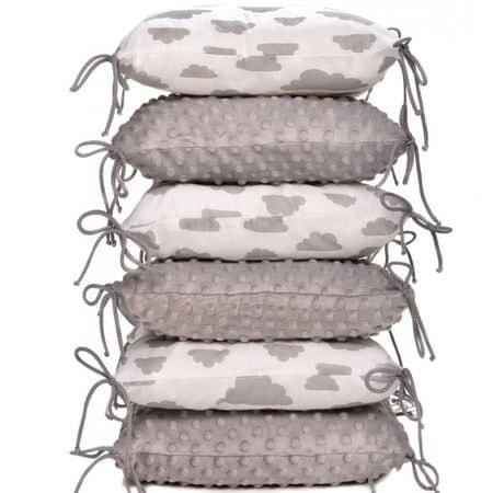 T-tomi ochraniacz do łóżeczka, White grey clouds