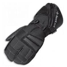Held motocyklové rukavice 2 x 2 prsty NORDPOL čierne, textil/koža (pár)