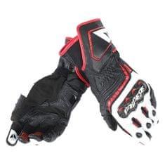 Dainese pánské sport moto rukavice  CARBON D1 LONG černá/bílá/červená (láva), kůže (pár)