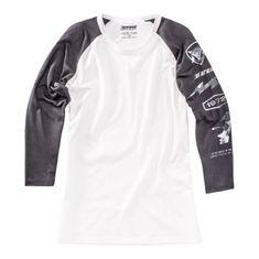 Dainese pánske tričko s 3/4 rukávom THUNDER72 čierna/biela