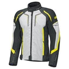 Held pánská motocyklová bunda  SMOKE šedá/fluo-žlutá/černá, textil