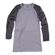 Dainese pánske tričko s 3/4 rukávom THUNDER72 sivá/čierna