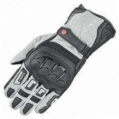 Held enduro rukavice Sambia 2v1 GORE-TEX na motorku, sivá/čierna, textil/klokanej kože