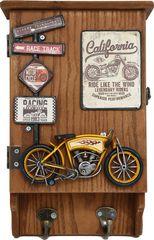 Sifcon Skrinka na kľúče, motocykel žltý