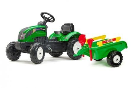 Falk Ranch Tack traktor kormánnyal, kocsival, gereblyével és lapáttal - ZÖLD