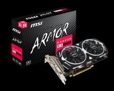 MSI grafična kartica Armor Radeon RX 570 8 GB GDDR5, PCI-E, OC