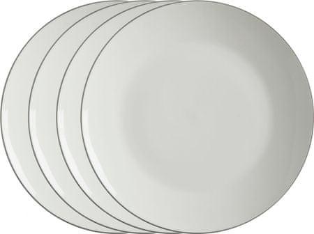 Maxwell & Williams Előétel tányér 23 cm White Basics Edge, 4 db - kicsomagolt