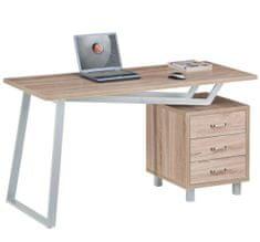 Računalniška miza Werda, hrast