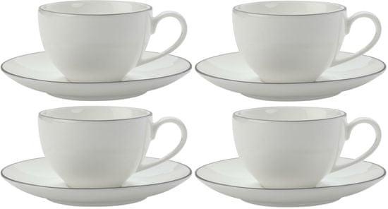 Maxwell & Williams Espresso šálka a podšálka 100 ml White Basics Edge, 4 ks