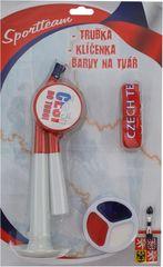 Šport team Sada Fun SR - trúbka + kľúčenka + farby na tvár