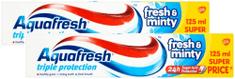 Aquafresh Fresh&Minty fogkrém 2x 125 ml