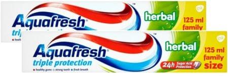 Aquafresh Herbal fogkrém 2x 125 ml