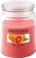 TORO Sviečka v skle s viečkom - červený pomaranč 510 g
