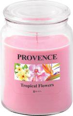 TORO Sviečka v skle s viečkom - tropické kvety 510 g