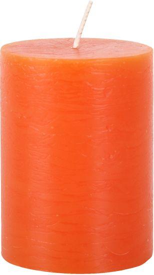 TORO Sviečka rustikálna oranžová 7,5 x 10 cm