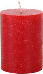 TORO Sviečka rustikálna červená 7,5 x 10 cm