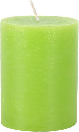 TORO Sviečka rustikálna zelená 7,5 x 10 cm