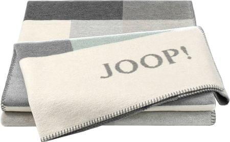 JOOP! Koc Bold Sand 150 x 200 cm, szary/niebieski