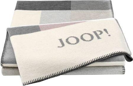 JOOP! Koc Bold Sand 150 x 200 cm, szary/różowy
