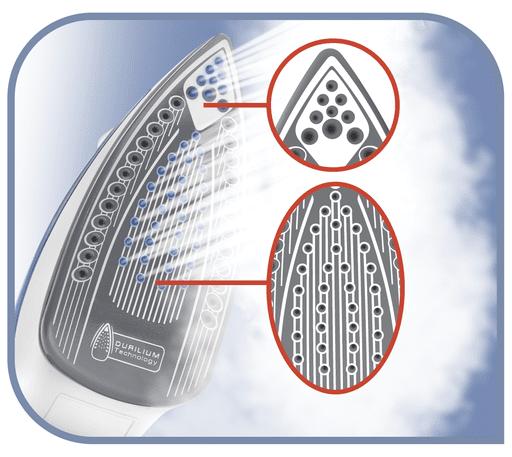 Napařovací žehlička Tefal FV3962E0 Easygliss rovnoměrné rozložení teploty