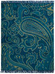 Biederlack odeja Dark Velvet Dark Paisley, 150 x 200 cm