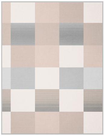 Biederlack Soft Impression Ombré Check pléd, Silver 150x200 cm