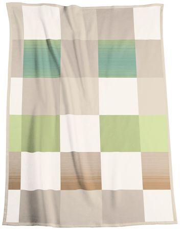 Biederlack odeja Soft Impression Ombré Check Acacia, 150 x 200 cm