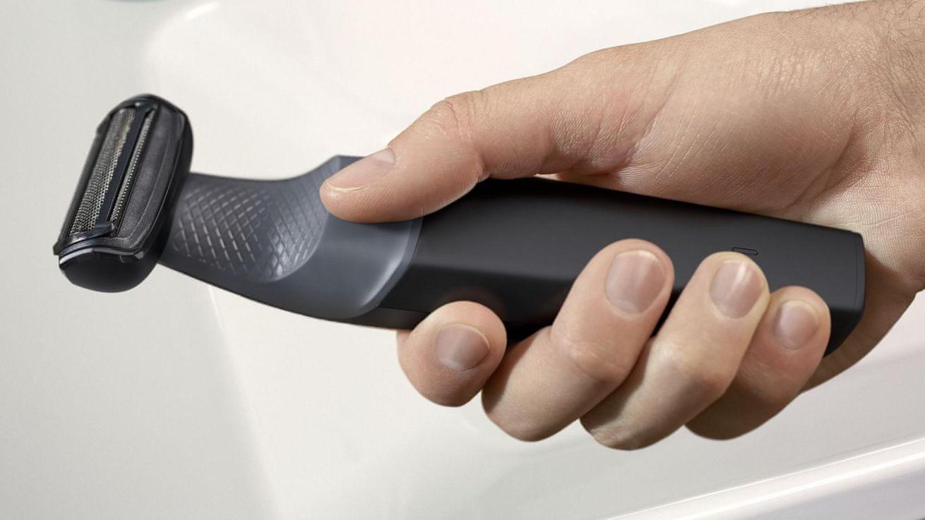 voděodolný Zastřihovač Philips BG3010/15 ergonomická rukojeť pevný úchop maximální kontrola nad strojkem