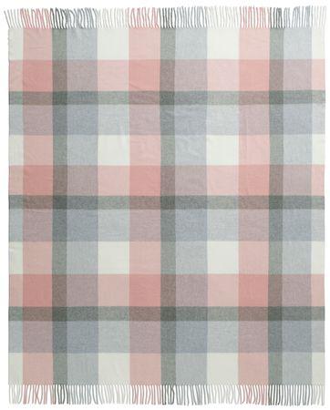 Biederlack Soft Impression pléd, 130x170 cm, rózsaszín/szürke